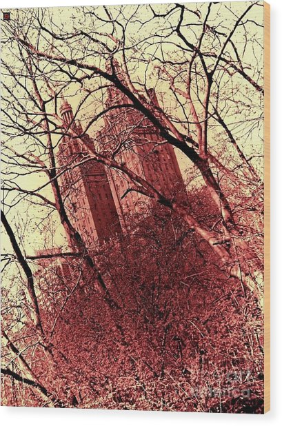 Ghostly Towers Wood Print