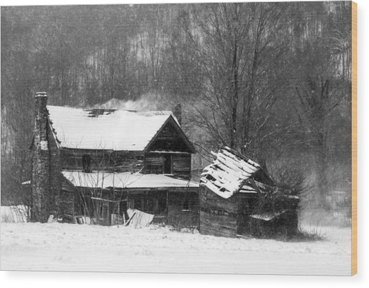 Ghosts Of Winters Past Wood Print