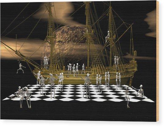 Ghostship Gala 2 Wood Print