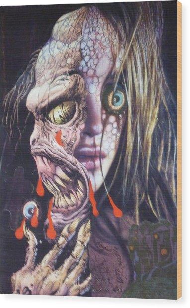 Ghoulshead Wood Print