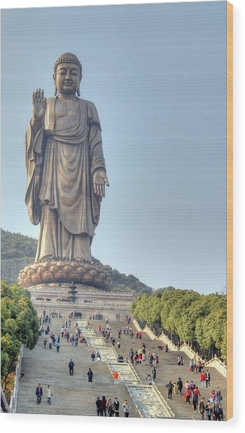 Giant Buddha Wood Print
