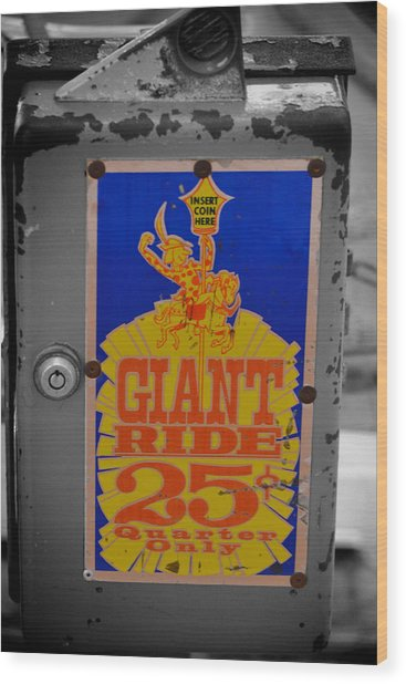 Giant Ride 25 Wood Print