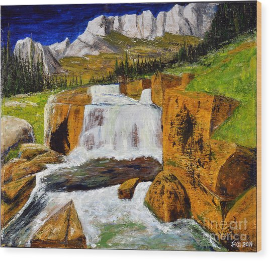 Giant Steps Waterfall Wood Print