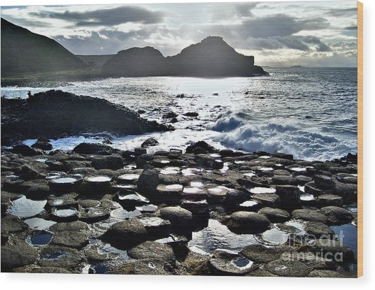 Giant's Causeway Sunset Wood Print