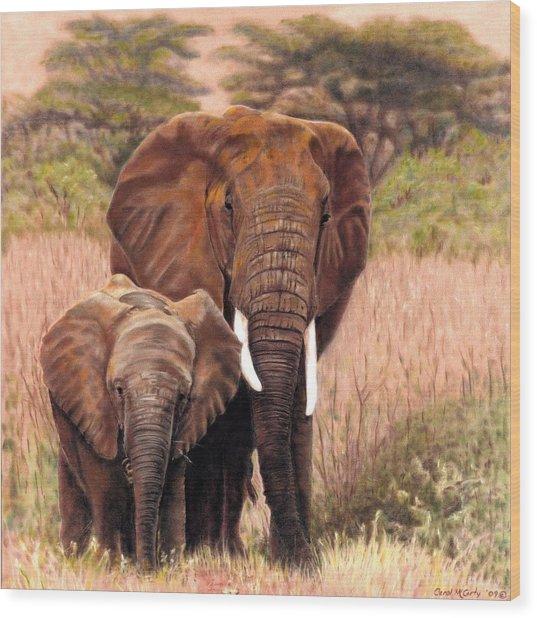 Giants Of Kenya Wood Print