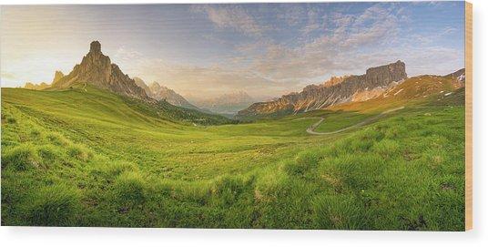 Giau Pass, Italy Wood Print by Chalermkiat Seedokmai