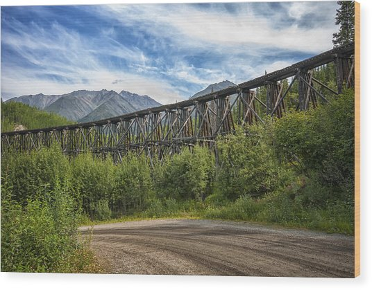 Gilahina Railroad Trestle Wood Print