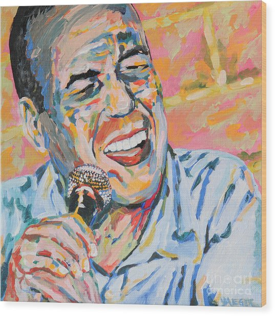 Gilbert Gottfried Portrait Wood Print