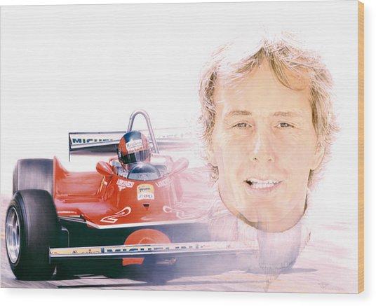 Gilles Villeneuve  Ferrari T5  1980 Wood Print by Alberto Ponno
