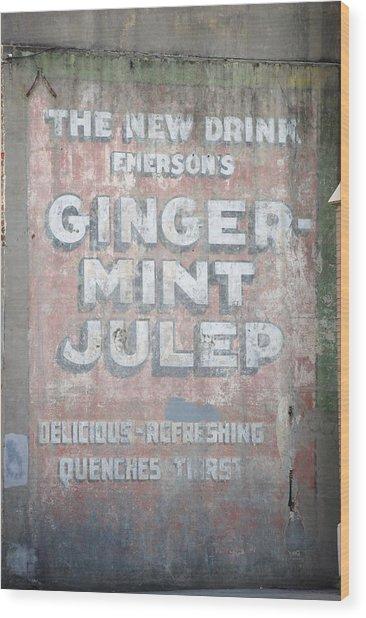 Ginger-mint Julep Wood Print by Pamela Schreckengost