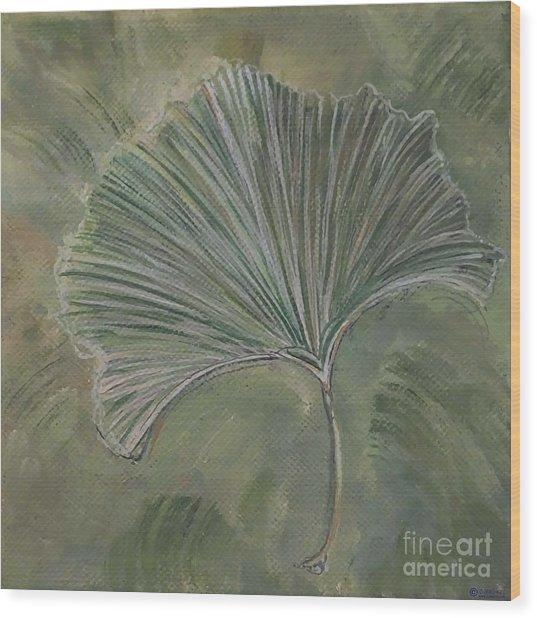 Ginko Leaf Wood Print