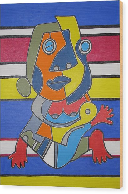 Gipsy Woman Wood Print by Daniel Burtea