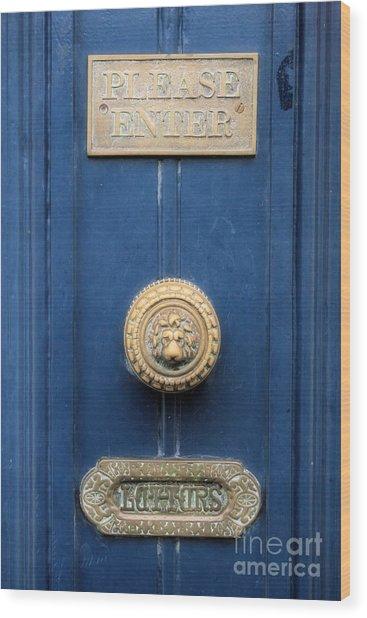 Girl Guide Door Wood Print