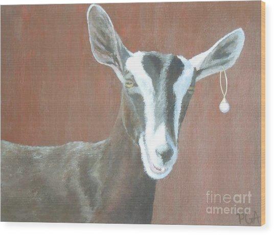 Girl With A Pearl Earring IIi Wood Print