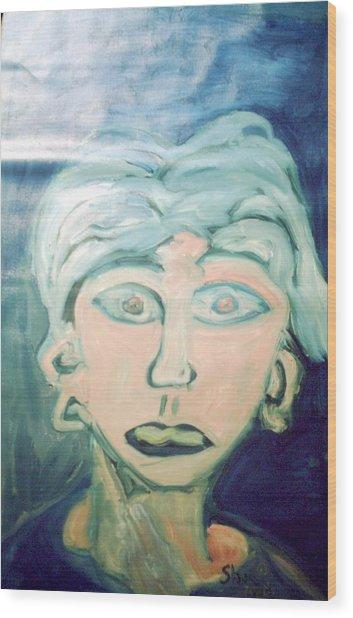 Girl With Ear Rings Wood Print