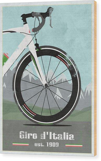 Giro D'italia Bike Wood Print