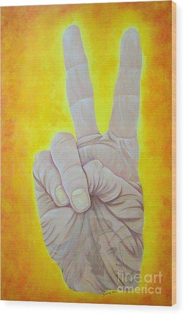 Give Peace A Chance. By Richard Brooks. Wood Print