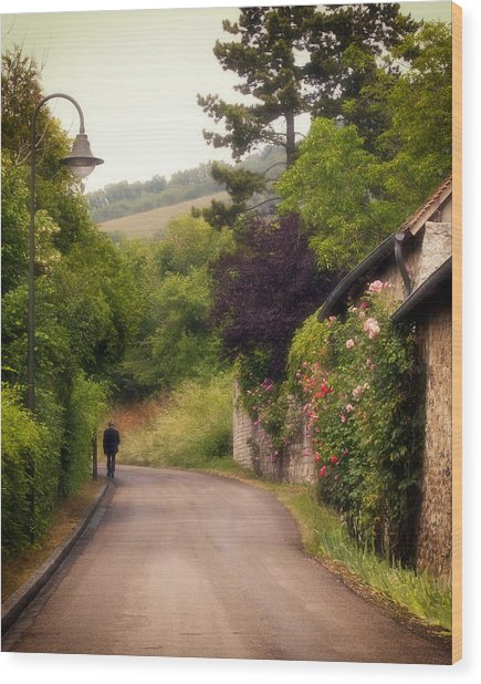 Wood Print featuring the photograph Giverny Country Road by Gigi Ebert