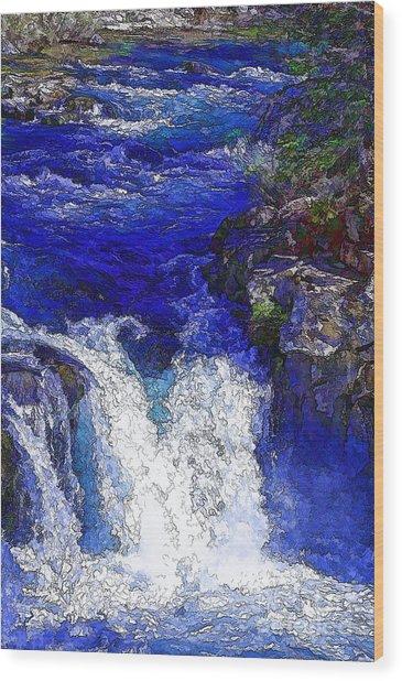 Glacial Flow-2 Wood Print