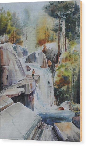 Glacial Quarries Wood Print