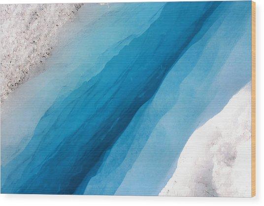 Glacial Rift Wood Print