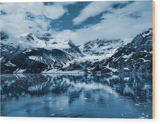 Glacier Bay - Alaska - Landscape - Blue  Wood Print