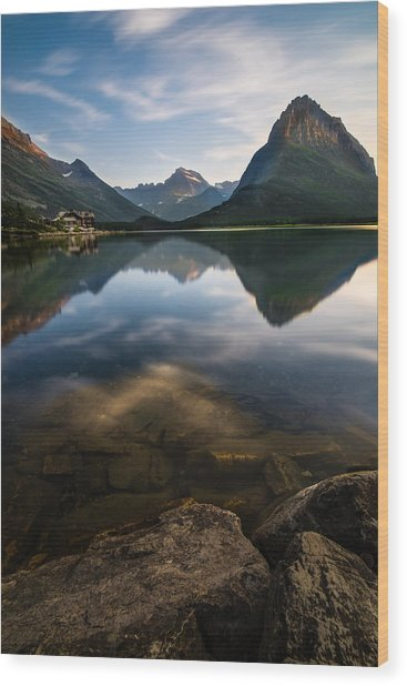 Glacier National Park 2 Wood Print by Larry Marshall