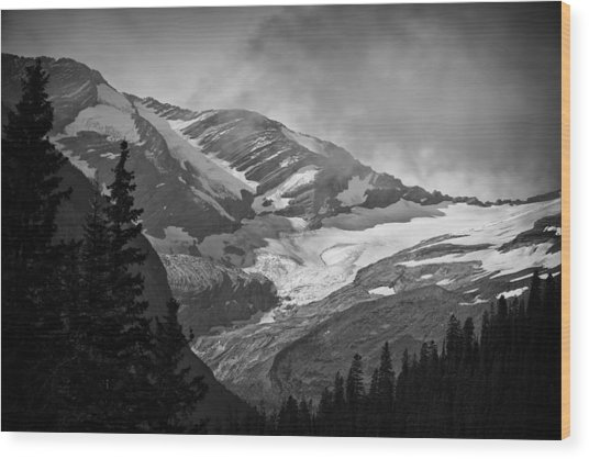 Glacier Wood Print by Stuart Deacon