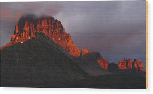 Glacier Sunrise Wood Print