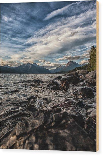 Glacier Whispers Wood Print