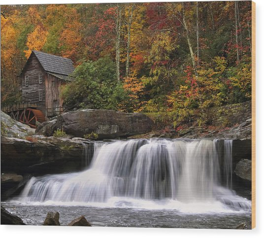 Glade Creek Grist Mill - Photo Wood Print