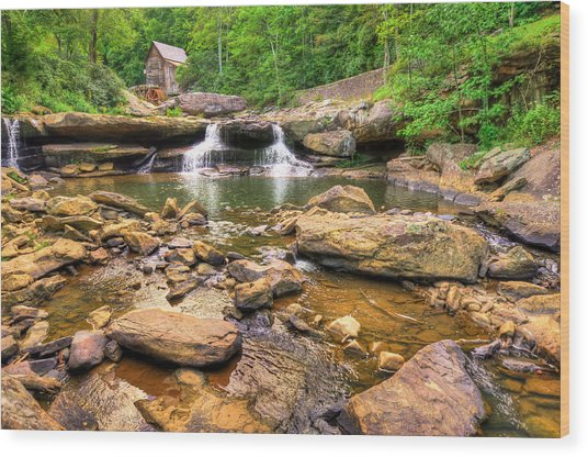Glade Creek Mill - Beckley West Virginia Wood Print by Gregory Ballos