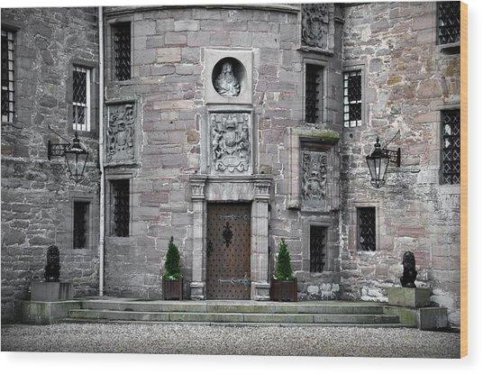 Glamis Castle. Doorway Wood Print by RicardMN Photography