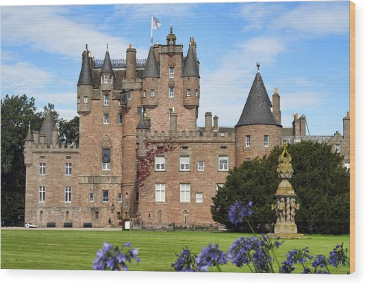 Glamis Castle Wood Print