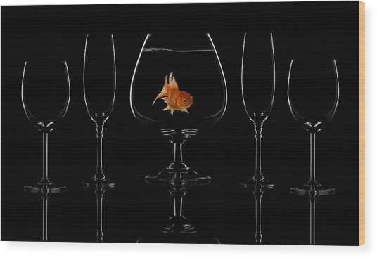 Glass Fish Wood Print