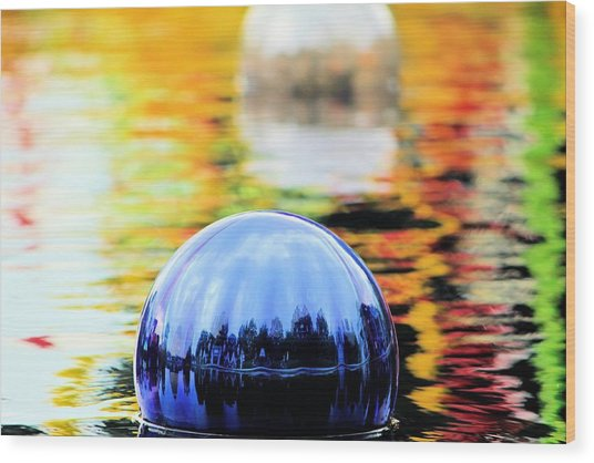 Glass Floats Wood Print