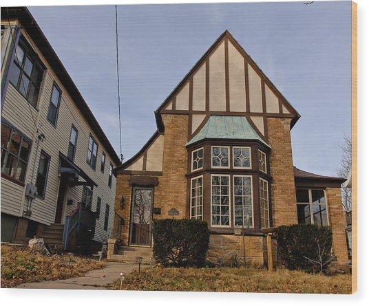 Glass Houses Wood Print