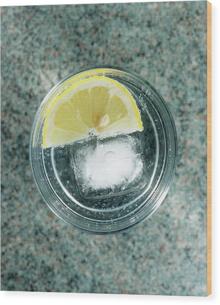 Glass Of Gin And Tonic Wood Print