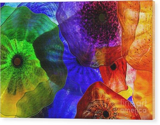 Glass Palette Wood Print
