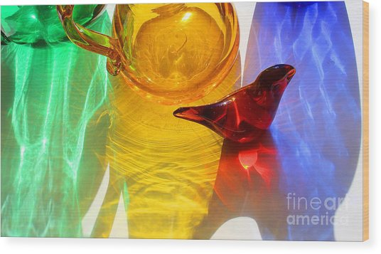 Glass Reflections #8 Wood Print