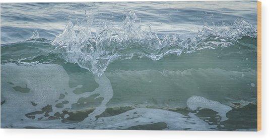 Glass Wave Wood Print