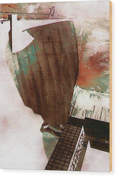 Glen Canyon Dam Wood Print