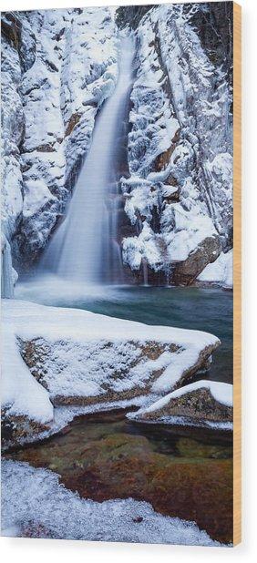 Glen Ellis Falls - Winter Beauty Wood Print