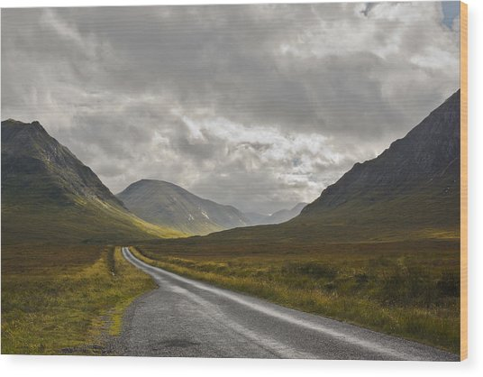 Glen Etive In The Scottish Highlands Wood Print by Jane McIlroy