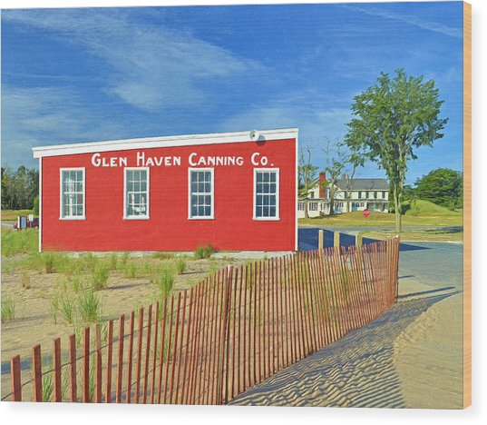 Glen Haven Canning Co. Wood Print