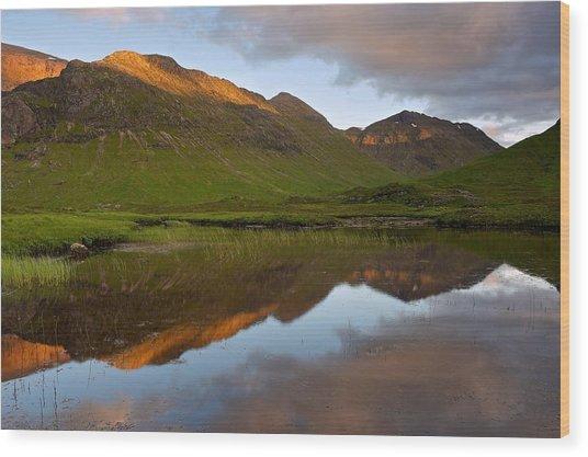 Glencoe Summer Reflections Wood Print
