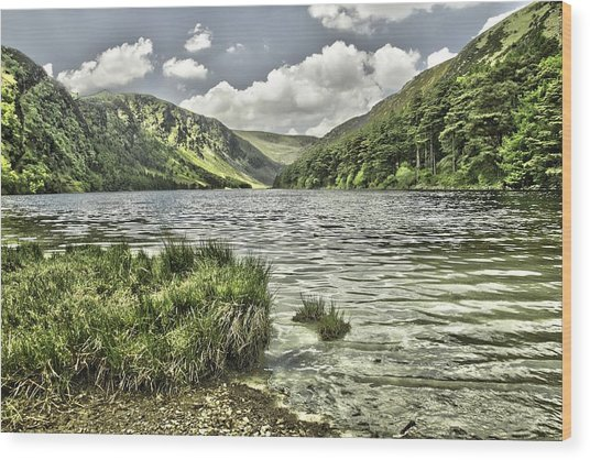 Glendalough Upper Lake Wood Print