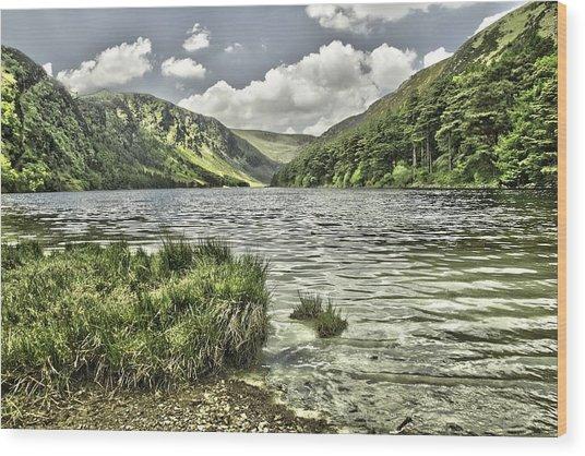 Glendalough Upper Lake Wood Print