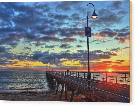 Glenelg Jetty Wood Print