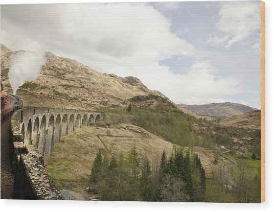 Glenfinnan Train Viaduct Scotland Wood Print